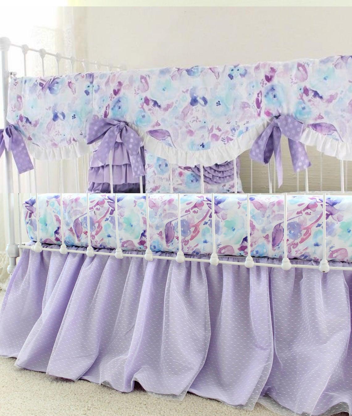 Image of: Ocean Dreams Purple Crib Bedding Set Lottie Da Baby